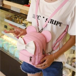 mini mouse bow Crossbody backpack